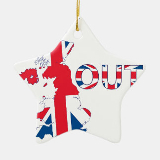 BREXIT OUT UNION JACK CHRISTMAS ORNAMENT