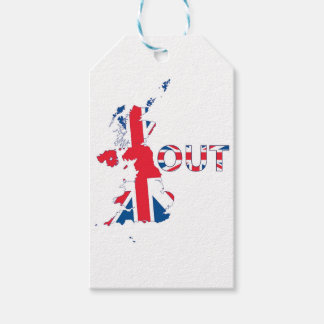 BREXIT OUT UNION JACK GIFT TAGS