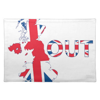 BREXIT OUT UNION JACK PLACEMAT