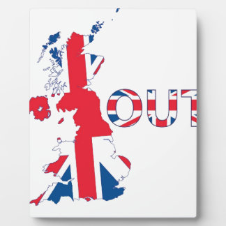 BREXIT OUT UNION JACK PLAQUE