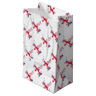BREXIT OUT UNION JACK SMALL GIFT BAG