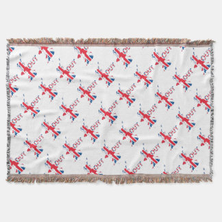 BREXIT OUT UNION JACK THROW BLANKET