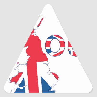 BREXIT OUT UNION JACK TRIANGLE STICKER