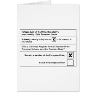 Brexit referendum in UK Card