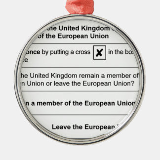Brexit referendum in UK Christmas Ornament