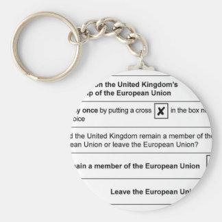Brexit referendum in UK Key Ring
