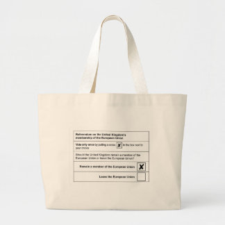 Brexit referendum in UK Large Tote Bag