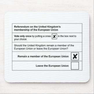 Brexit referendum in UK Mouse Mat