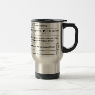 Brexit referendum in UK Travel Mug