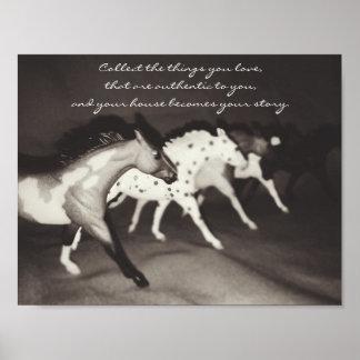 Breyer Model Horse Collector's Wall Art Poster