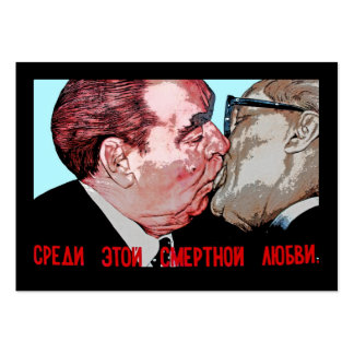 Brezhnev & Honecker Kiss,East Side Gallery, Berlin Pack Of Chubby Business Cards