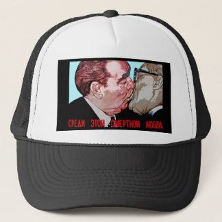 Brezhnev & Honecker Kiss,East Side Gallery, Berlin Trucker Hat
