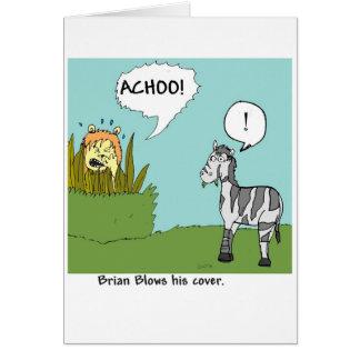 Brian Blows his Cover Greeting Card