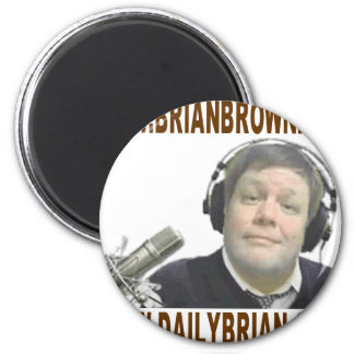 Brian Brown's Website Promotion 6 Cm Round Magnet