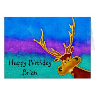 Brian, Happy Birthday silly stag card