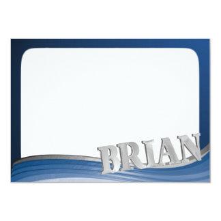 BRIAN Steel Wave Flat Note 11 Cm X 16 Cm Invitation Card
