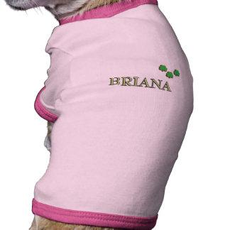 Briana Irish Name Dog T-shirt