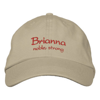 Brianna Name Cap / Hat Embroidered Cap