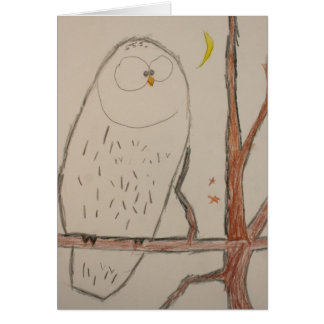 Brian's Owl09 Note Card