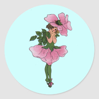 Briar-Rose Classic Round Sticker