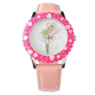 Briar Rose Cute Flower Child Floral Funny Girl Watch