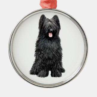 Briard (A) - black Christmas Ornament