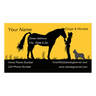 Briard and Sunset Silhouette Pack Of Standard Business Cards