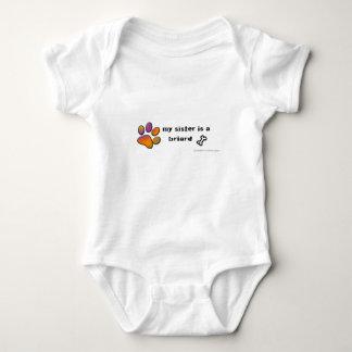 briard baby bodysuit