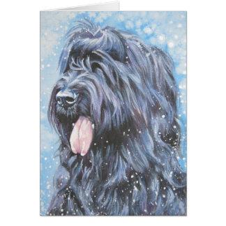 Briard Christmas Card
