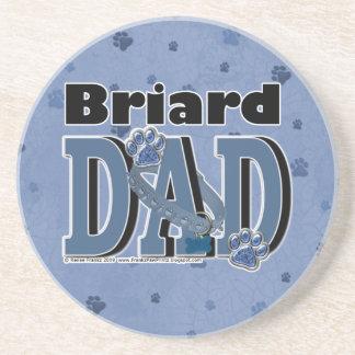 Briard DAD Drink Coaster