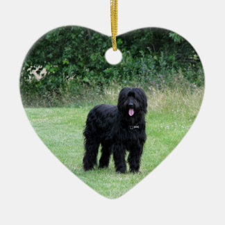 Briard dog hanging heart ornament, pendant, gift christmas ornament