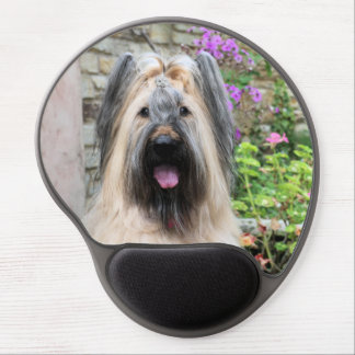 Briard Dog in a Tiara Queen Bee Gel Mouse Pads