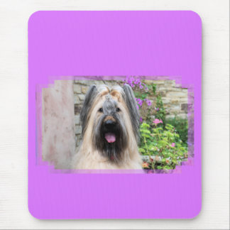 """Briard Dog in a Tiara """"Queen Bee"""" Mouse Pad"""