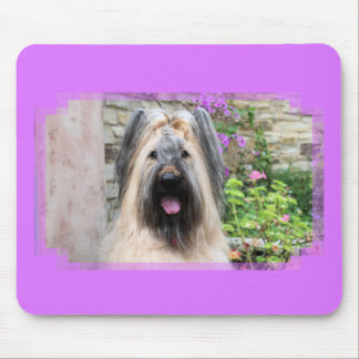 Briard Dog in a Tiara Queen Bee Mouse Pads