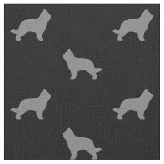 Briard Dog Silhouettes Pattern Fabric