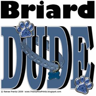 Briard DUDE Standing Photo Sculpture