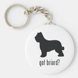Briard Key Ring