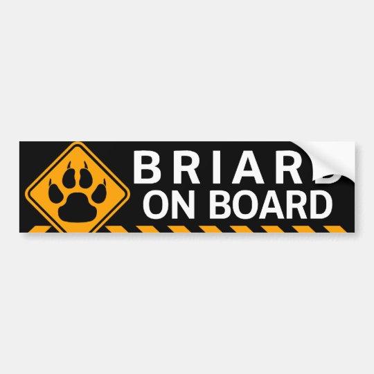 Briard On Board Bumper Sticker