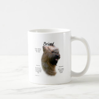 Briard (tawny) History Design Coffee Mug