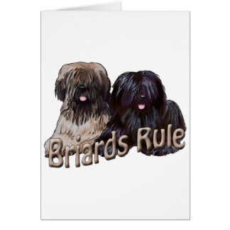 briards rule greeting card