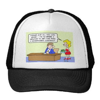 bribe senator government contract cap