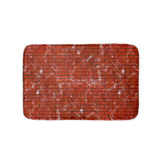 BRICK1 BLACK MARBLE & RED MARBLE (R) BATH MAT