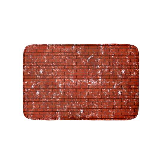 BRICK1 BLACK MARBLE & RED MARBLE (R) BATH MATS