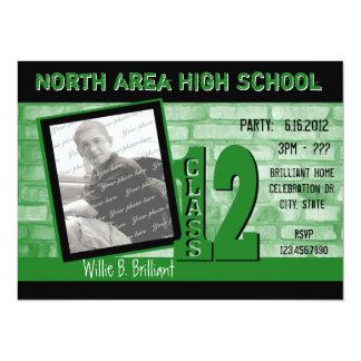 Brick 2012 Graffiti / Green 14 Cm X 19 Cm Invitation Card