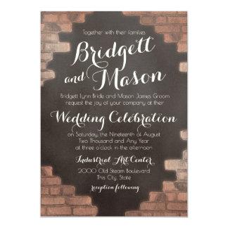 Brick and Slate Graffiti Wedding Card