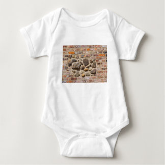 Brick and stone wall baby bodysuit
