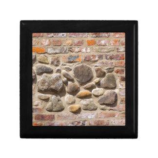 Brick and stone wall gift box