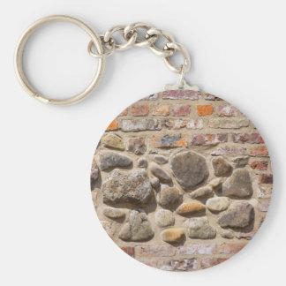 Brick and stone wall key ring