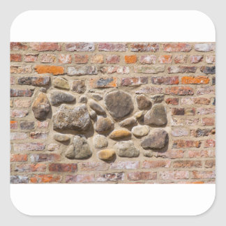 Brick and stone wall square sticker