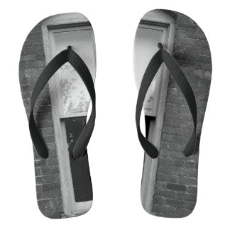 Brick And Window Photograph On Flip flops